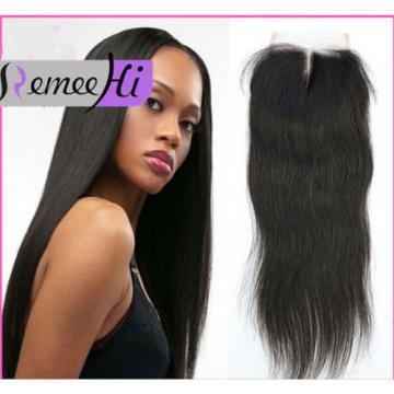 "4""X4"" Lace Closure Brazilian Virgin Peruvian Human Hair  hairpiece extensions"