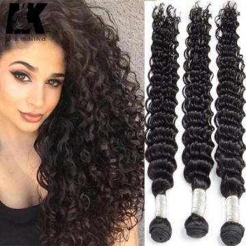 Peruvian Deep Curly Virgin Hair Weave 3 Bundles Human Hair Extension fast ship