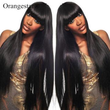 4 Bundles Unprocessed Virgin Peruvian Straight Hair Extension Human Weave Weft