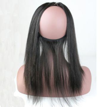 360 Lace Band Frontal Back Closure Peruvian Virgin Human Hair Straight 22x4inch