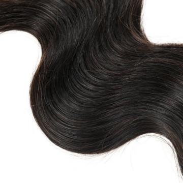 7A Peruvian Virgin Hair Body Wave Hair Wefts Human Remy Hair Extensions 12 inch