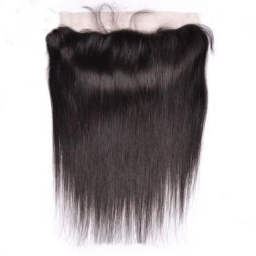 Peruvian Virgin Straight Human Hair 4Bundles/200g with 1pc Lace Frontal 13x4inch