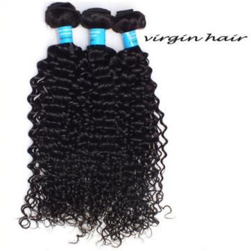 "4 Bundles(10""+12""+14""+16"")/200g Virgin Peruvian Curly Weave Human Hair Extension"
