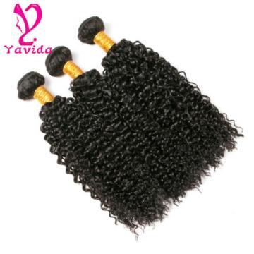 7A Long Inch Kinky Curly 300g Human Hair Extensions Virgin Peruvian Hair Weft