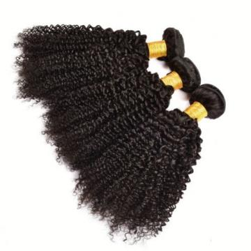 Peruvian Kinky Curly Virgin Hair 3 Bundle 300g Curly Weave Human Hair Extensions