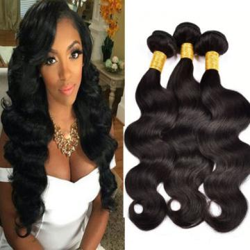 3 Bundles 300g Unprocessed Virgin Hair Peruvian Body Wave Human Hair Extensions