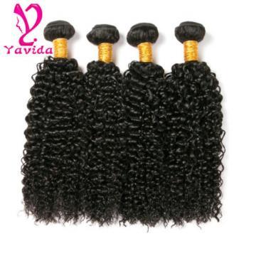 7A 100% Peruvian Virgin Hair Kinky Curly Human Hair Extensions Weft 4 Bundles