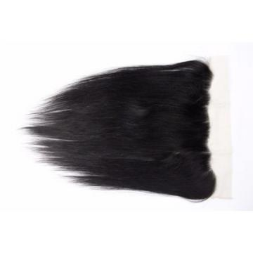 7A 13x6 Ear to Ear Full Frontal Peruvian Straight Virgin Human Hair Lace Frontal
