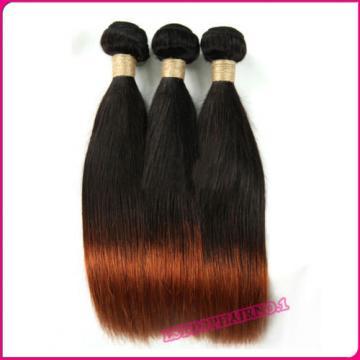 Ombre Peruvian Virgin Hair Human hair extensions 3 bundles Straight Hair 300g