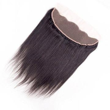 "Peruvian Straight Full Lace Frontal Closure Virgin Human Hair 13""x4"" Ear To Ear"