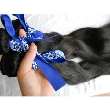 """Peruvian Virgin Hair Extension Silk Straight Long Hair Weft 3 Bundles 12"""" 300g"""