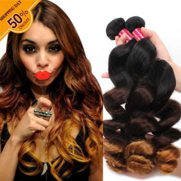 New Arriving 8A Ombre Color 3Tone Virgin Remy Peruvian 3 bundles loose wave hair