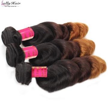 New Arriving 8A Ombre Color 3Tone Virgin Remy Peruvian 3 bundles loose wave hair