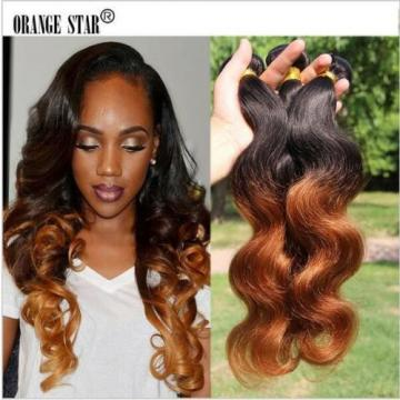 Ombre Peruvian Virgin Body Wave Human Hair Extensions 1b30 Two Tone Hair bundles
