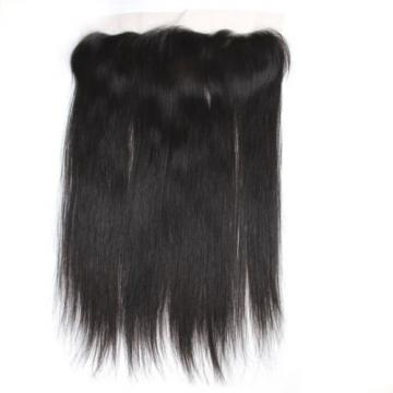 8A 13x4/Ear to Ear Full Frontal Peruvian Straight Virgin Human Hair Lace Frontal