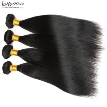 7A 4Bundles 14''16''18''20'' Virgin Peruvian Straight Hair Extension Human Weave