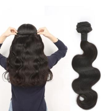Virgin Peruvian Body Wave Hair 4 Bundles Hair Weft with Lace Closure by DHL ship