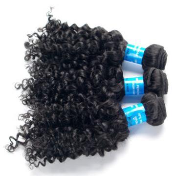 "3 Bundles(10""12""14"") Curly Human Hair Extensions Virgin Peruvian Natural Hair"