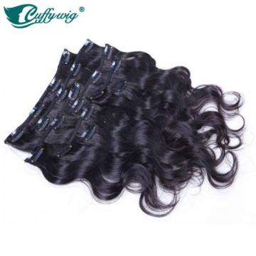 Body Wave Peruvian Virgin 100% Human Hair Clip-In Hair Extension For Black Women
