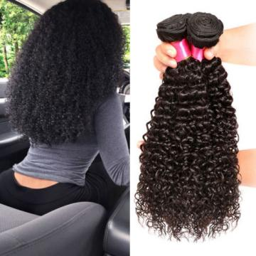 3 Bundles Kinky Curly Weft Real Peruvian Remy Virgin Human Hair Extensions 300g