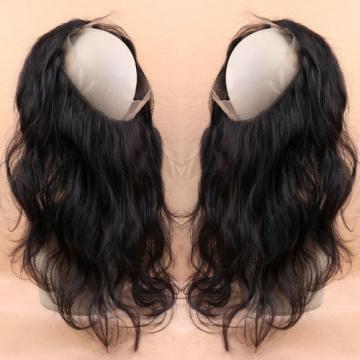 360 Full Lace Frontal Body Wave Lace Band Closure Peruvian Virgin Human Hair