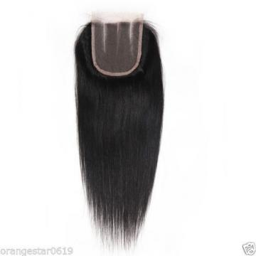 "Unprocessed 4""x4"" Straight Virgin Peruvian Hair Lace Closure 8""-22"" Swiss Lace"