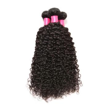 Peruvian Real Remy Virgin Human Hair Weft Weave 7A Kinky Curly 3 Bundles 300g