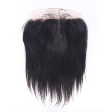"13""X4""Peruvian Straight Lace Frontal Closure 7A Virgin Human Hair Bleached Knots"