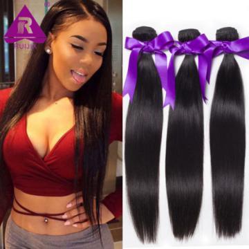 300g Peruvian Virgin Hair Extensions Weft Virgin Straight Human Hair 3 Bundles