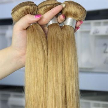 PERUVIAN 100% HUMAN HAIR COLOR#27 GOLDEN STRAWBERRY VIRGIN SOFT BLONDE BUNDLES