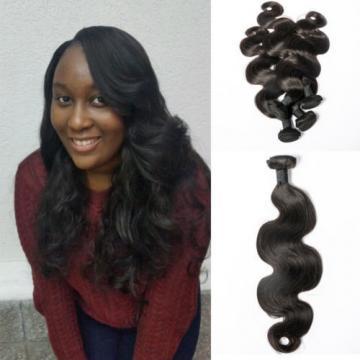4 bundles/400g 6A Virgin Peruvian Body wave Real Human Hair Extension Weave,1b