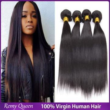 7A Peruvian Virgin Hair Staight Human Hair Unprocessed Remy Hair Extension 24""
