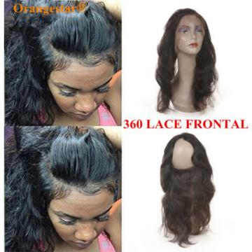 Peruvian Virgin Hair 360 Lace Frontal Closure Body Wave Full Lace Brand Closure