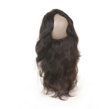 8A Peruvian Virgin Hair 360 Lace Frontal Closure Body Wave Full Lace Brand #1b