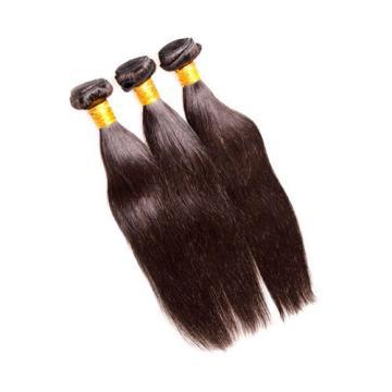 7A Peruvian Virgin Hair Straight 3Bundles 300g lot Natural Black Color No Tangle