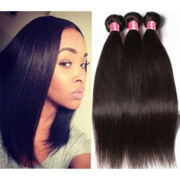 Peruvian Straight Hair 3 bundles 300g 100% Virgin Peruvian Human Hair Extensions