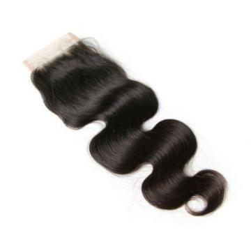 Peruvian Virgin Human Hair Extensions Body Wave 3 Bundles 300g With Lace Closure