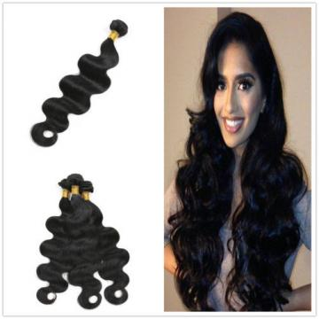 7A Unprocessed Peruvian Virgin Hair Body Wave Weave Remy Hair Extensions 26 inch