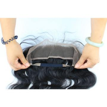 Peruvian Body Wave Virgin Hair Pre Plucked 1pc 360 Lace Frontal With 2 Bundles