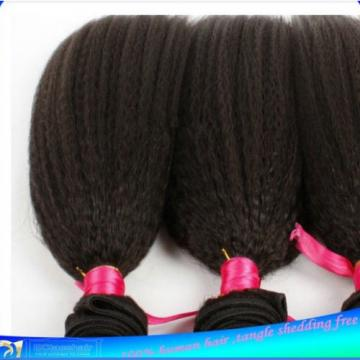 Kinky Straight Virgin Peruvian Bundle remy human hair weft Weave extensions 100g