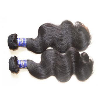 Top 10A Peruvian Virgin Hair Body Wave 3Bundles 300g Lot Natural Black Color