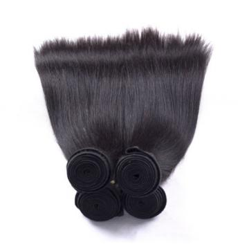 Remy Peruvian Virgin Straight Weave Weft 7A Human Hair Extensions Silky Straight