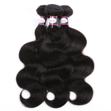 Virgin Brazilian/Peruvian/Indian Human Hair Extensions 3 Bundles/300g Body Wave