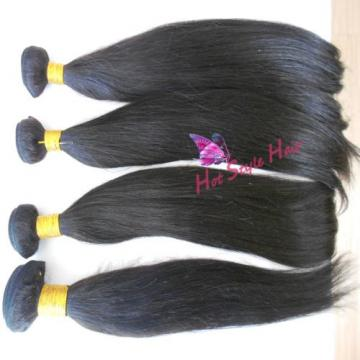 "Peruvian Virgin Straight Hair Weft 16/18/20 Hair Extension & 12"" Lace Closure"