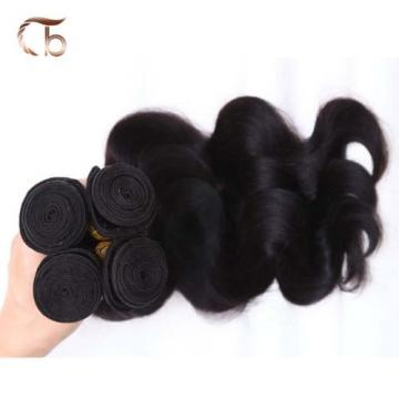 "4P 16"" 18""Wave Virgin Hair Weave Peruvian Hair Bundles 100%Human Hair Extensions"