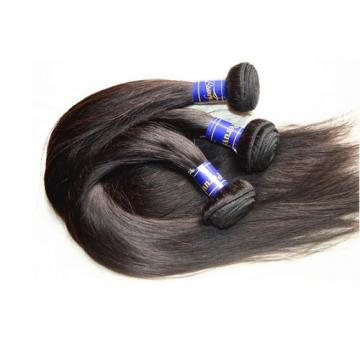 8A Grade Good Silk Straight Virgin Peruvian Human Hair Extensions 300G 3Bundles