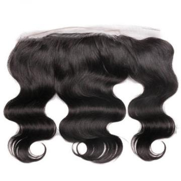 7A 300G Peruvian Virgin Hair Body Wave Human Hair with 4*13 Lace Frontal Closure
