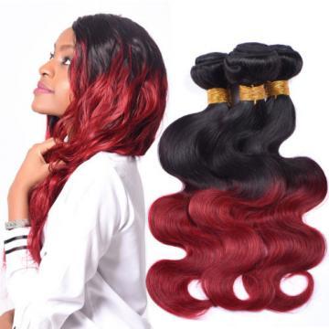 100g per Bundle Virgin Peruvian Human Hair Weave 1B/bug Body Wave 3 Pieces