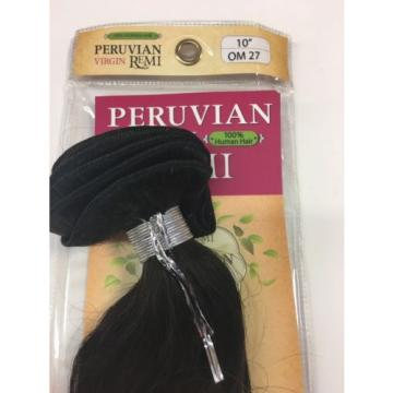 "Peruvian 100% VIRGIN REMI Human Weave Hair OMBRE 2-Tone Extension 10"" OM27"