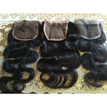 """Peruvian 8A Virgin Hair Body Wave Lace Closure, Free, Middle, & 3 Part. 12"""""""